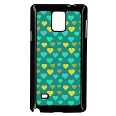 Hearts Seamless Pattern Background Samsung Galaxy Note 4 Case (black)