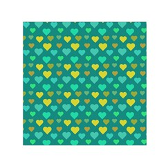 Hearts Seamless Pattern Background Small Satin Scarf (square) by Nexatart