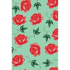 Red Floral Roses Pattern Wallpaper Background Seamless Illustration 5 5  X 8 5  Notebooks by Nexatart