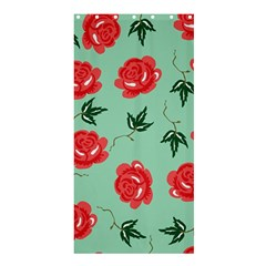 Red Floral Roses Pattern Wallpaper Background Seamless Illustration Shower Curtain 36  X 72  (stall)  by Nexatart