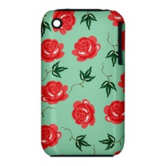 Red Floral Roses Pattern Wallpaper Background Seamless Illustration Iphone 3s/3gs