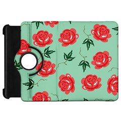 Red Floral Roses Pattern Wallpaper Background Seamless Illustration Kindle Fire Hd 7