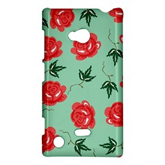 Red Floral Roses Pattern Wallpaper Background Seamless Illustration Nokia Lumia 720 by Nexatart