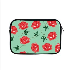 Red Floral Roses Pattern Wallpaper Background Seamless Illustration Apple Macbook Pro 15  Zipper Case by Nexatart