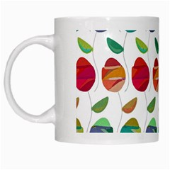 Watercolor Floral Roses Pattern White Mugs by Nexatart