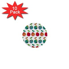 Watercolor Floral Roses Pattern 1  Mini Buttons (10 pack)