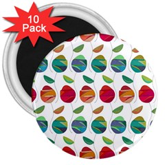 Watercolor Floral Roses Pattern 3  Magnets (10 pack)