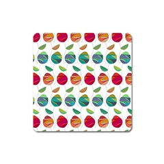 Watercolor Floral Roses Pattern Square Magnet