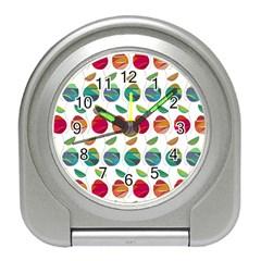 Watercolor Floral Roses Pattern Travel Alarm Clocks