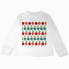 Watercolor Floral Roses Pattern Kids Long Sleeve T-Shirts