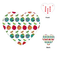 Watercolor Floral Roses Pattern Playing Cards (Heart)