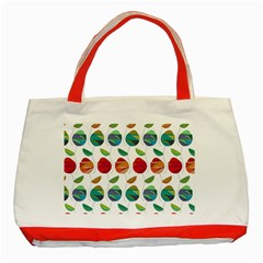Watercolor Floral Roses Pattern Classic Tote Bag (red) by Nexatart