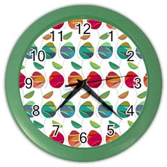 Watercolor Floral Roses Pattern Color Wall Clocks