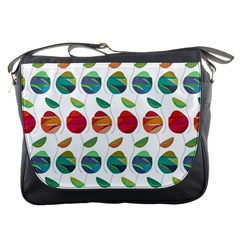 Watercolor Floral Roses Pattern Messenger Bags