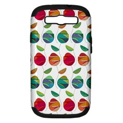 Watercolor Floral Roses Pattern Samsung Galaxy S Iii Hardshell Case (pc+silicone) by Nexatart