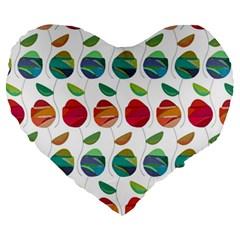 Watercolor Floral Roses Pattern Large 19  Premium Heart Shape Cushions