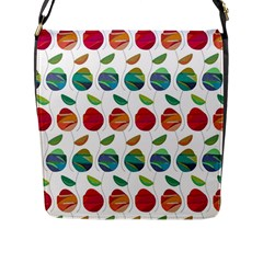 Watercolor Floral Roses Pattern Flap Messenger Bag (L)