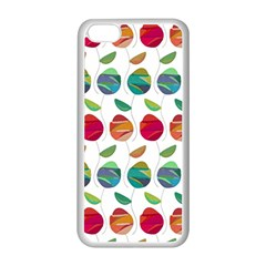 Watercolor Floral Roses Pattern Apple iPhone 5C Seamless Case (White)
