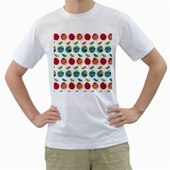 Watercolor Floral Roses Pattern Men s T Shirt (white)