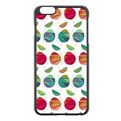 Watercolor Floral Roses Pattern Apple Iphone 6 Plus/6s Plus Black Enamel Case by Nexatart