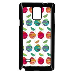 Watercolor Floral Roses Pattern Samsung Galaxy Note 4 Case (Black)