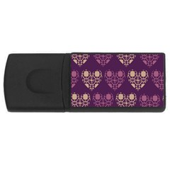 Purple Hearts Seamless Pattern Usb Flash Drive Rectangular (4 Gb) by Nexatart