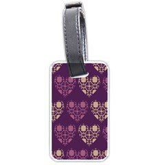 Purple Hearts Seamless Pattern Luggage Tags (two Sides)