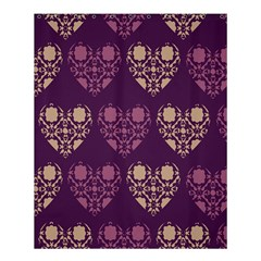 Purple Hearts Seamless Pattern Shower Curtain 60  X 72  (medium)  by Nexatart
