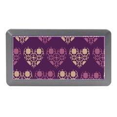 Purple Hearts Seamless Pattern Memory Card Reader (mini)
