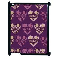 Purple Hearts Seamless Pattern Apple Ipad 2 Case (black)