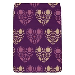 Purple Hearts Seamless Pattern Flap Covers (s)