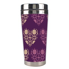 Purple Hearts Seamless Pattern Stainless Steel Travel Tumblers by Nexatart