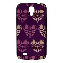 Purple Hearts Seamless Pattern Samsung Galaxy Mega 6 3  I9200 Hardshell Case
