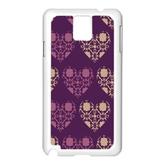 Purple Hearts Seamless Pattern Samsung Galaxy Note 3 N9005 Case (white)
