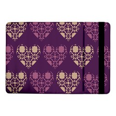 Purple Hearts Seamless Pattern Samsung Galaxy Tab Pro 10 1  Flip Case