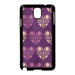 Purple Hearts Seamless Pattern Samsung Galaxy Note 3 Neo Hardshell Case (black)