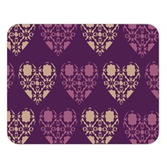 Purple Hearts Seamless Pattern Double Sided Flano Blanket (large)  by Nexatart