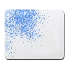 Blue Paint Splats Large Mousepads