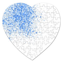 Blue Paint Splats Jigsaw Puzzle (heart)