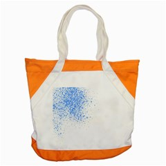 Blue Paint Splats Accent Tote Bag