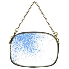 Blue Paint Splats Chain Purses (one Side)  by Nexatart