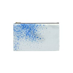 Blue Paint Splats Cosmetic Bag (small)