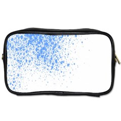 Blue Paint Splats Toiletries Bags 2 Side