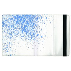 Blue Paint Splats Apple Ipad 2 Flip Case