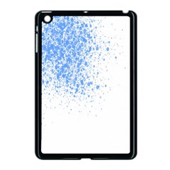 Blue Paint Splats Apple Ipad Mini Case (black) by Nexatart