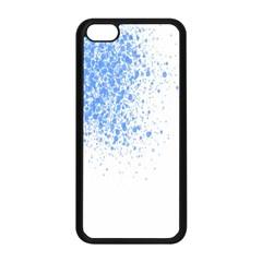 Blue Paint Splats Apple Iphone 5c Seamless Case (black)