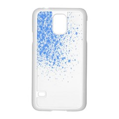 Blue Paint Splats Samsung Galaxy S5 Case (white) by Nexatart
