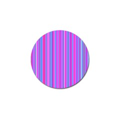 Blue And Pink Stripes Golf Ball Marker (4 Pack)