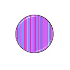 Blue And Pink Stripes Hat Clip Ball Marker (4 Pack) by Nexatart