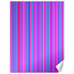 Blue And Pink Stripes Canvas 36  X 48   by Nexatart